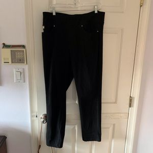 BELLE black denim jeans from QVC. Size 16